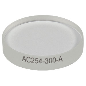 AC254-300-A - f = 300 mm, Ø1in Achromatic Doublet, ARC: 400 - 700 nm
