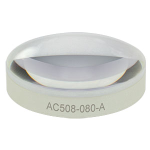 AC508-080-A - f = 80.0 mm, Ø2in Achromatic Doublet, ARC: 400 - 700 nm