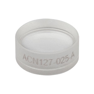ACN127-025-A - f = -25.0 mm, Ø1/2in Achromatic Doublet, ARC: 400 - 700 nm