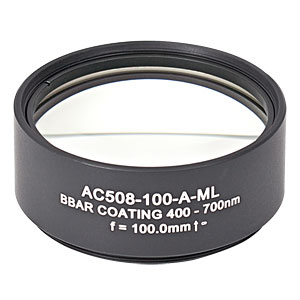 AC508-100-A-ML - f=100 mm, Ø2in Achromatic Doublet, SM2-Threaded Mount, ARC: 400-700 nm