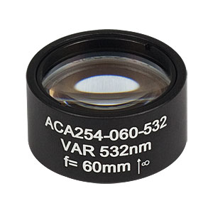 ACA254-075-532 - High-Power Air-Spaced Doublet, 532 nm, f = 75 mm