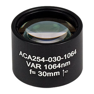 ACA254-030-1064 - High-Power Air-Spaced Doublet, 1064 nm, f = 30 mm