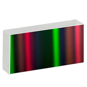 GR2550-15106 - Ruled Reflective Diffraction Grating, 150/mm, 10.6 µm Design Wavelength, 25.0 x 50.0 x 9.5 mm