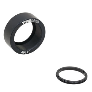 AD19T - Ø1in OD Adapter for Ø19 mm Optic, Internally Threaded, 0.38in Thick