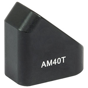 AM40T - 40° Angle Block, 8-32 Tap, 8-32 Post Mount