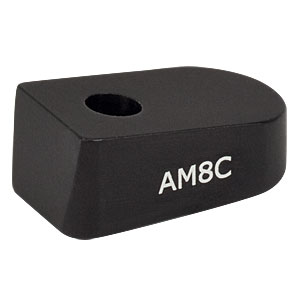 AM8C - 8° Angle Block, #8 Counterbore, 8-32 Post Mount
