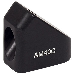 AM40C - 40° Angle Block, #8 Counterbore, 8-32 Post Mount