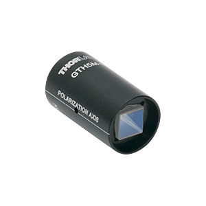 GTH5M-B - Mounted Glan-Thompson Calcite Polarizer, 5 mm x 5 mm Clear Aperture, 650 - 1050 nm AR Coating