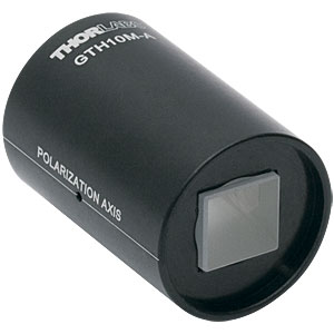 GTH10M-A - Mounted Glan-Thompson Calcite Polarizer, 10 mm  x 10 mm Clear Aperture, 350 - 700 nm AR Coating