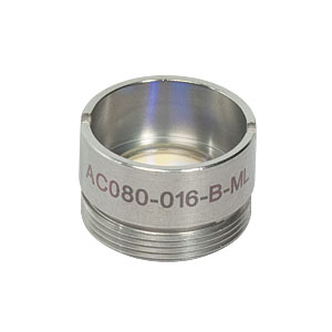 AC080-016-B-ML - f=16 mm, Ø8 mm Achromatic Doublet, M12x0.5 Threaded Mount, ARC: 650-1050