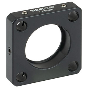 CP06/M - Post-Mountable Cage Plate with Ø1.0in Double Bore, Metric