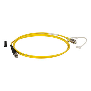 P2-830A-PCSMA-1 - Single Mode Patch Cable, 830 - 980 nm, FC/PC to SMA, Ø3 mm Jacket, 1 m Long