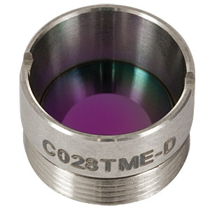 C028TME-D - f = 5.95 mm, NA = 0.56 Mounted Geltech Aspheric Lens, ARC: 1.8 - 3 µm