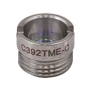 C392TME-C - f = 2.75 mm, NA = 0.64, Mounted Geltech Aspheric Lens, AR: 1050-1620 nm