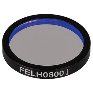 FELH0800 - Ø25.0 mm Premium Longpass Filter, Cut-On Wavelength: 800 nm