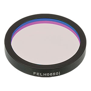 FELH0650 - Ø25.0 mm Premium Longpass Filter, Cut-On Wavelength: 650 nm