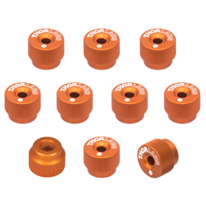 F25SSK1-ORANGE - 1/4in-80 Removable Knobs, Orange, Pack of 10