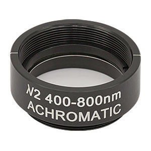 AHWP10M-600 - Ø1in Mounted Achromatic Half-Wave Plate, SM1-Threaded Mount, 400 - 800 nm