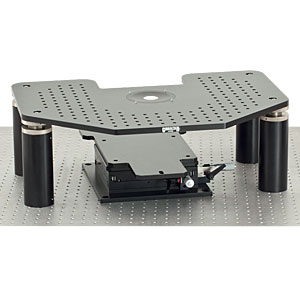 G-AE - Manual Gibraltar Stage for Zeiss Axio Examiner Microscopes, Aluminum Platform w/o Base Plate