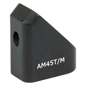 AM45T/M - 45° Angle Block, M4 Tap, M4 Post Mount