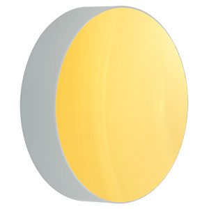 CM750-056-M01 - Ø75 mm Gold-Coated Concave Mirror, f = 56.25 mm