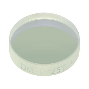 "DMLP425T - Ø1/2"" Longpass Dichroic Mirror, 425 nm Cut-On"