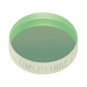 "DMLP1180T - Ø1/2"" Longpass Dichroic Mirror, 1180 nm Cut-On"