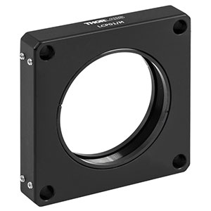 LCP01/M - 60 mm Cage Plate, SM2 Threads, 0.5in Thick, M4 Tap (Two SM2RR Retaining Rings Included)