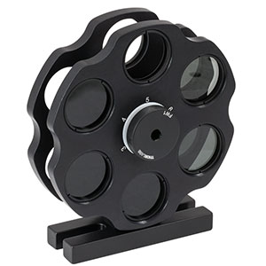 FW2AND - Twelve Station Dual Filter Wheel for Ø1in (Ø25 mm) Filters with Base Assembly, 10 ND Filters Included