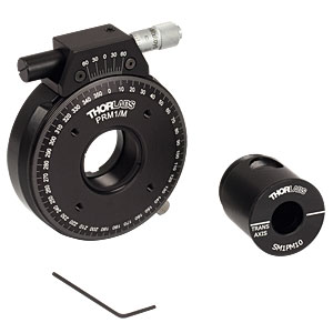 PRM1GL10/M - Ø1in High-Precision Rotation Mount with Polarizing Prism Mount, Metric