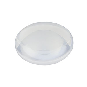 LA4148-UV - f = 50.0 mm, Ø1in UV Fused Silica Plano-Convex Lens, AR Coating: 245-400 nm