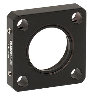 CP02/M - SM1-Threaded 30 mm Cage Plate, 0.35in Thick, 2 Retaining Rings, M4 Tap