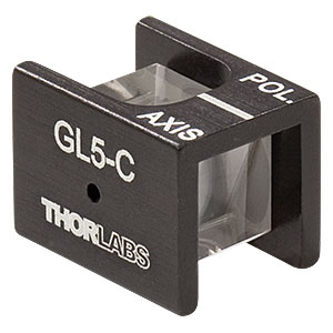 GL5-C - Mounted Glan-Laser Polarizer, Ø5 mm CA, AR Coating: 1050 - 1700 nm