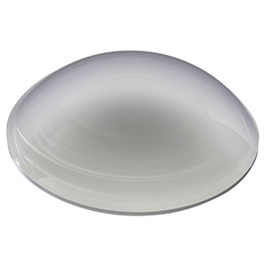 "LE4412-UV - f = 100.0 mm, Ø2"" UV Fused Silica Positive Meniscus Lens, AR Coating: 245-400 nm"