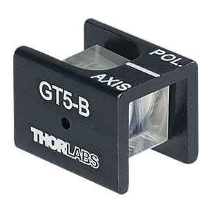 GT5-B - Glan-Taylor Polarizer, 5 mm Clear Aperture, Coating, 650 - 1050 nm