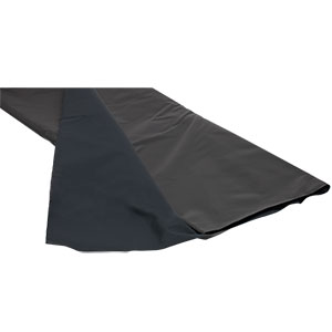BK5 - Black Nylon, Polyurethane-Coated Fabric, 5' x 9'  (1.5 m x 2.7 m) x 0.005in (0.12 mm) Thick