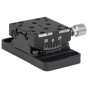 GN05/M - Small Goniometer with 12.7 mm Distance to Point of Rotation, ±15º, Metric