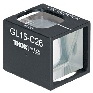 GL15-C26 - Mounted Glan-Laser Polarizer, Ø15 mm CA, 1064 nm V-Coating