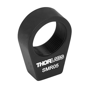 SMR05 - Ø1/2in Lens Mount with SM05 Internal Threads and No Retaining Lip, 8-32 Tap