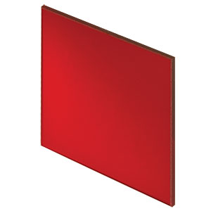 FGL610S - 2in Square RG610 Colored Glass Filter, 610 nm Longpass