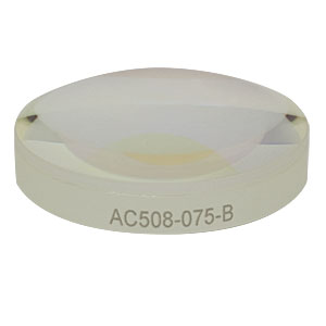 AC508-075-B - f = 75.0 mm, Ø2in Achromatic Doublet, ARC: 650 - 1050 nm