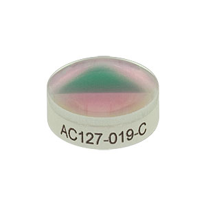 AC127-019-C - f=19.0 mm, Ø1/2in Achromatic Doublet, ARC: 1050-1700 nm