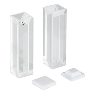 CV10Q1400F - 1400 µL Micro Fluorescence Cuvette with Cap, 2 Pack