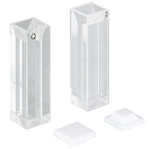 CV10Q700F - 700 µL Micro Fluorescence Cuvette with Cap, 2 Pack