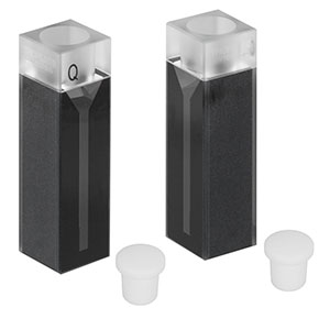 CV10Q700S - 700 µL Micro Cuvette with Stopper, 2 Pack