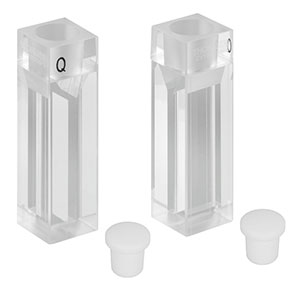 CV10Q700FS - 700 µL Micro Fluorescence Cuvette with Stopper, 2 Pack