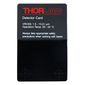 VRC6S - MIR Liquid Crystal Detector Card, 1.5 to >13.2 µm, 20 to 24 °C Ambient Temperature