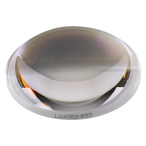 LA4052-633 - f = 35 mm, Ø1in UVFS Plano-Convex Lens, 633 nm V-Coat