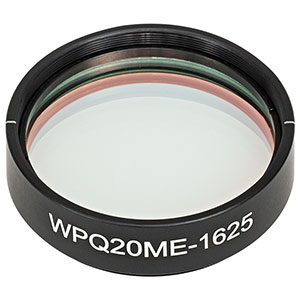 WPQ20ME-1625 - Ø2in Mounted Polymer Zero-Order Quarter-Wave Plate, SM2-Threaded Mount, 1625 nm