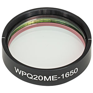 WPQ20ME-1650 - Ø2in Mounted Polymer Zero-Order Quarter-Wave Plate, SM2-Threaded Mount, 1650 nm